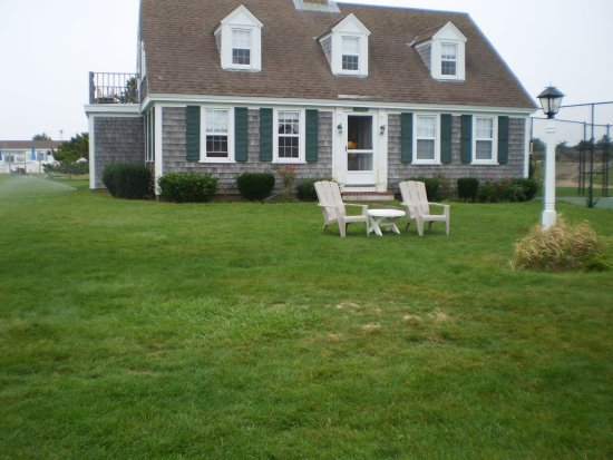 "Lighthouse Inn: Outside of the ""Lodge"" with no visible numbers as to the room numbers...easy to miss."