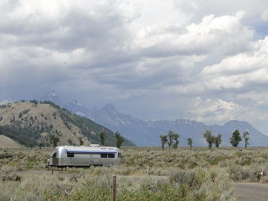Kelly, WY: We offer dry camping for RVs of all sizes. We do have a limited number of sites with electricity