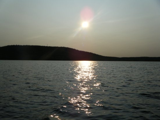 Sunset on the lake at Calabogie, Ontario
