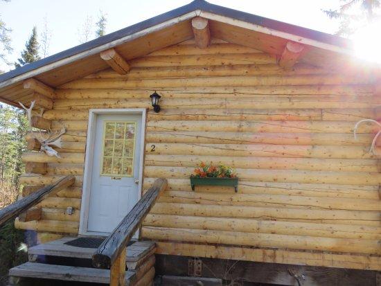 Paxson, AK: Our cabin door
