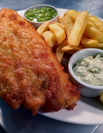 Sennybridge, UK: Fish & Chips