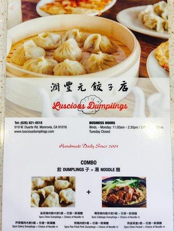 Luscious Dumplings 潤豐元饺子店 - Monrovia
