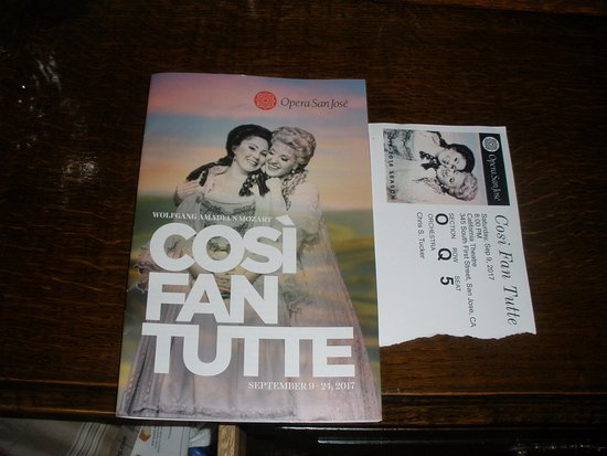 California Theatre: Opera program, ticket