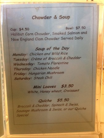 Soup Prices Picture Of Chowder House Fairbanks Tripadvisor