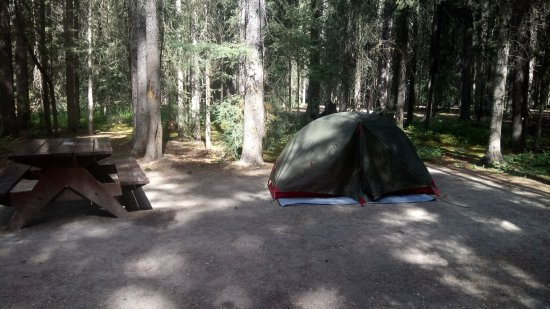 Johnston canyon campground updated 2018 reviews banff for Johnston canyon cabins