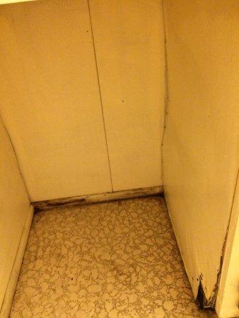 Red Carpet Inn & Suites - Hershey: wood rot in bathroom