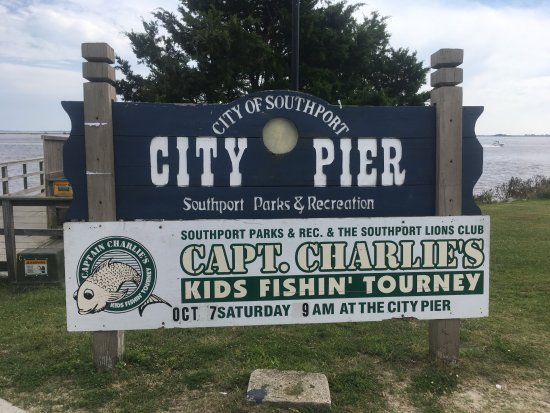 Southport Pier and RIverwalk: Sign