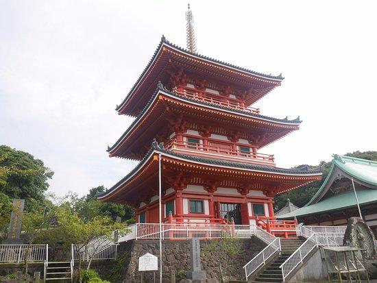 Saikyoji Temple: 最教寺三重塔近景