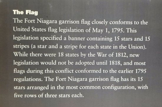 "Youngstown, Estado de Nueva York: Explanation of ""15 x 15"" American Flag"