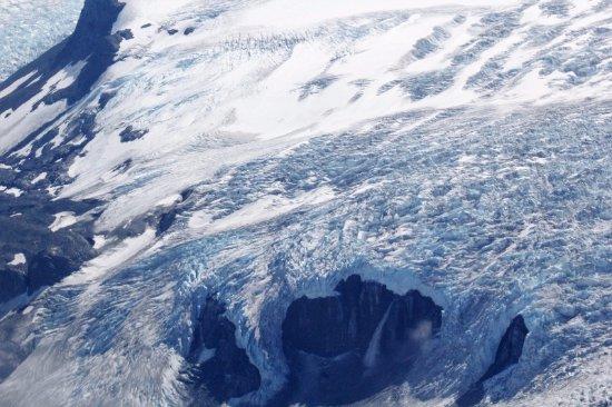 Talkeetna, AK: WATERFALL COMING OUT OF GLACIER