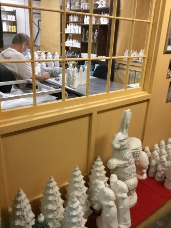 Vaillancourt Folk Art: Molds waiting to be painted