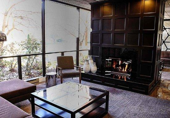 Ypsilanti, MI: Lobby - Fireplace