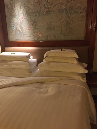 The Oberoi Bali: We went crazy with the pillow selection.