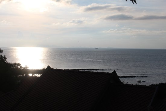 Belmond Napasai : Sun set seen from the room