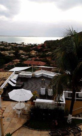 Posada Villa Mercedes: Dia nublado. Vista do quarto 06 (quarto triplo com 3 camas solteiros)