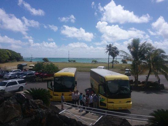 Kaaawa, Hawái: The Entrance Car Park