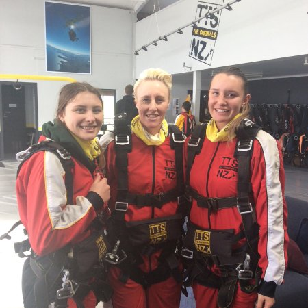 Taupo, New Zealand: A little nervous but incredibly excited pre jump photo!