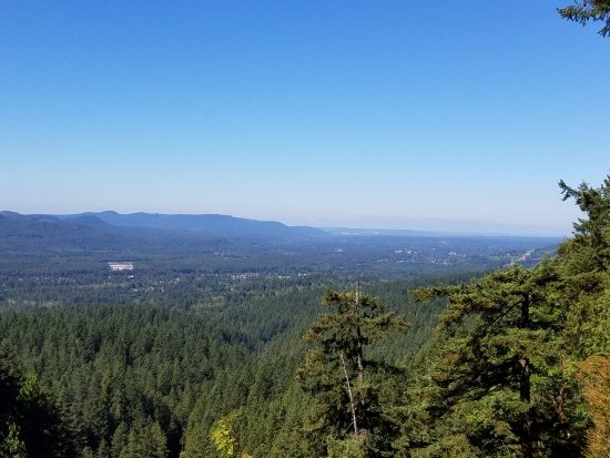 Gold Bar, WA: View towards the Olympic Mountains