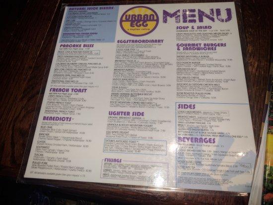 Highlands Ranch, CO: menu