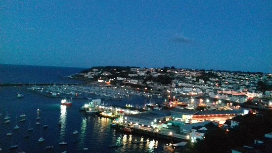 Brixham, UK: Night and day view from our apartment