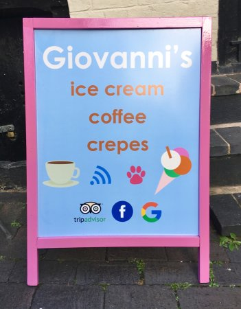 Giovanni's Ice Cream Parlour, Coffee Shop and Creperie