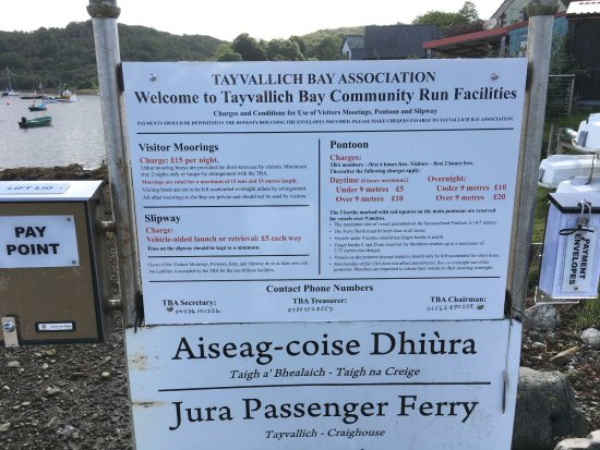 Tayvallich, UK: moorings and services