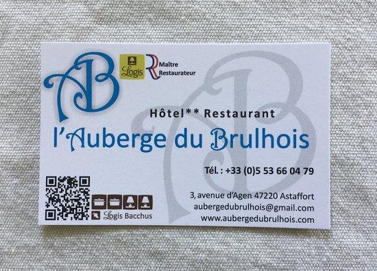 Astaffort, France : Auberge du Brulhois