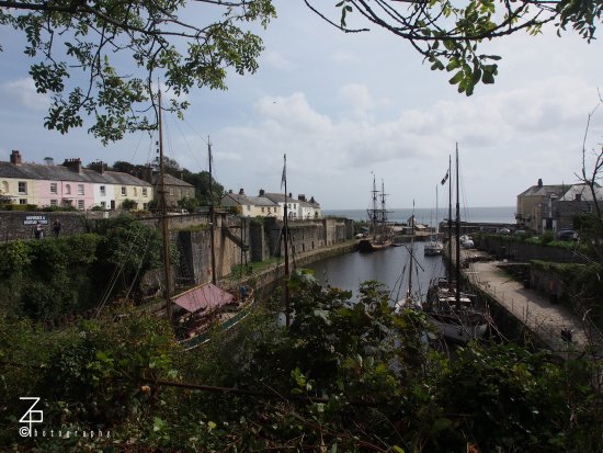 Charlestown, UK: View of the town from the museum entrance.