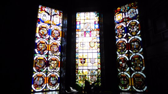 Disley, UK: Stunning old glass