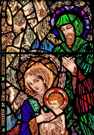 Harry Clarke Stained Glass Windows Jesus Mary And Joseph