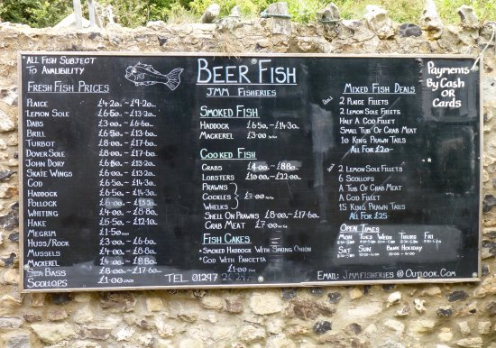 Daily fish prices, seen here on Beer beach