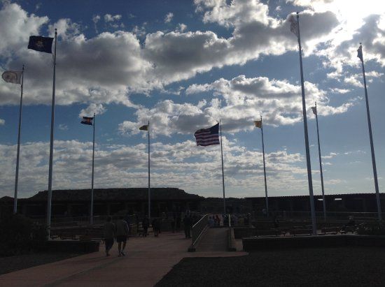 Four Corners Monument: Flags of all the states