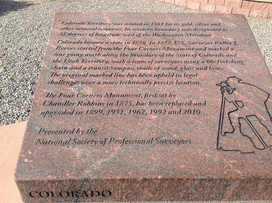 Four Corners Monument: Information about one of the corner states