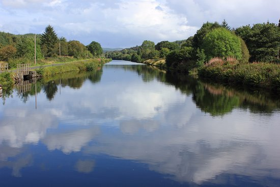 Argyll e Bute, UK: the canal eastwards towards Cairnbaan