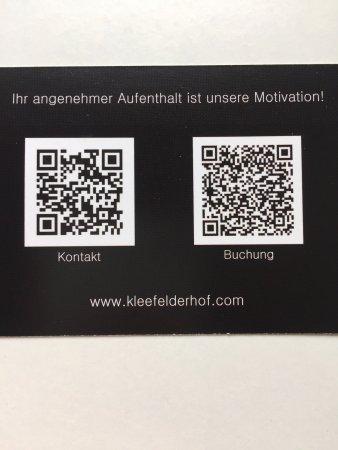 Visitenkarte Vorderseite Mit Qr Codes Picture Of