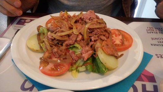 Villemandeur, Francia: menu duo entrée+ plat 14.90e