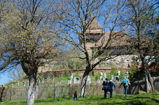 Cincsor, Rumunia: Outside the walls of the fortified church