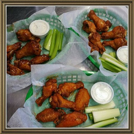 Saluda, NC: 10 flavors of wings to choose from in orders of 6 or 12.  Boneless is an option too!