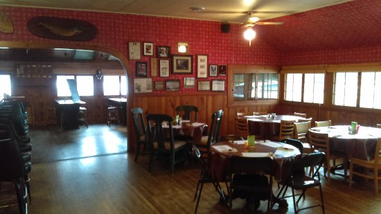 Avon, MN: Dining area with memorabilia on the walls.