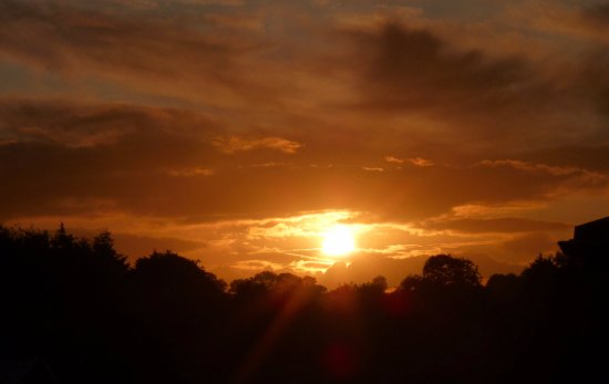 Honiton, UK: Sunset from our patio