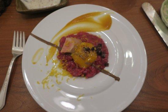 Geneva, NY: beets with foie gras