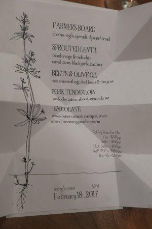 Geneva, NY: amazing menu
