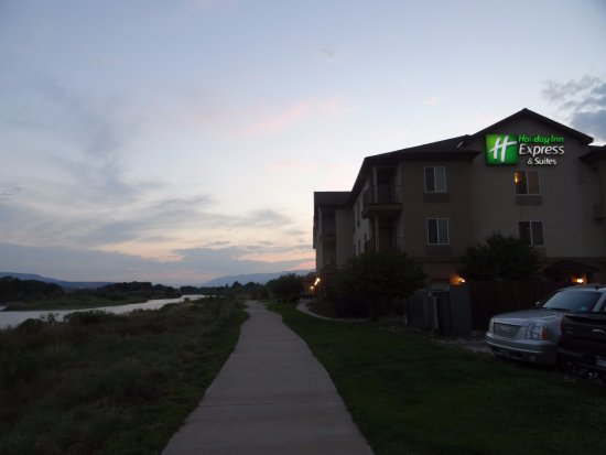 Silt, CO: Back of the hotel facing the Colorado River
