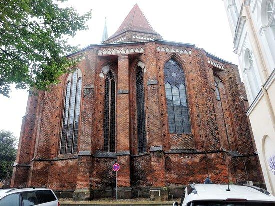 Schwerin, Deutschland: Pormenor dos vitrais