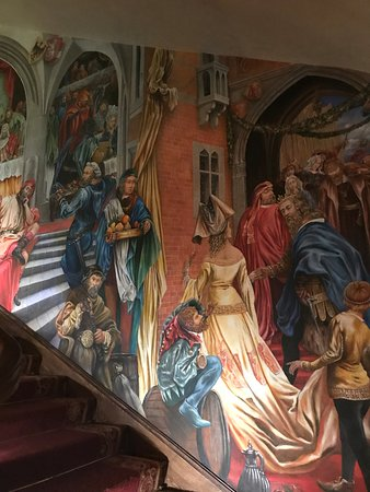 Wall Painting At The Wierzynek Restaurant S Stairs Picture Of