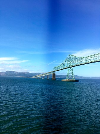 Cannery Pier Hotel: View of the bridge from our room