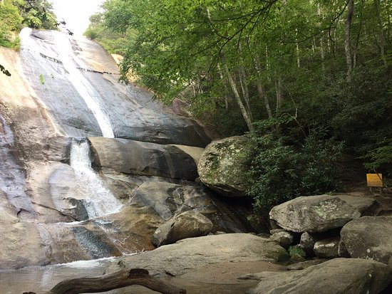 Roaring Gap, NC: The falls at the end of our hike