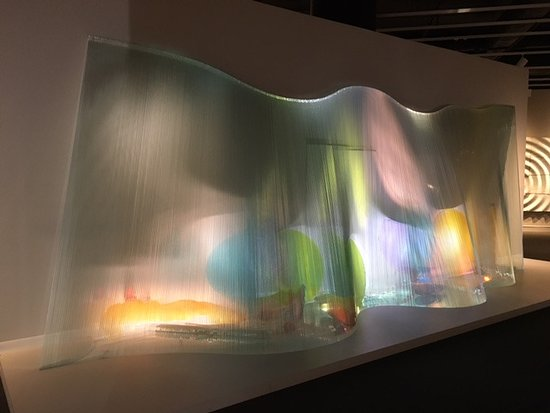 Mint Museum Uptown: this was an amazing sculpture using objects and light