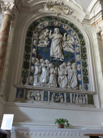 """Foiano Della Chiana, Olaszország: """"Ascensione di Gesù"""", ceramica invetriata dei Della Robbia"""