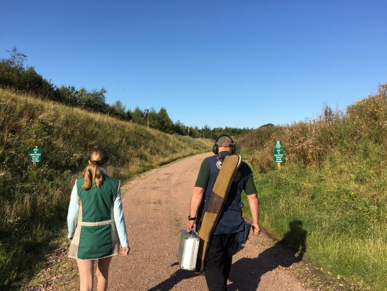 Walking to the range on a beauitful September morning in Leuchars